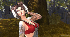 ♪ ♫ ♩ please don't stop the music ♪ ♫ ♩ (Μαῖα Athēnâ) Tags: secondlife sl sexy slfashion music nature mesh maiaathena maia belleza lelutka glamaffair red tattoo tats inked