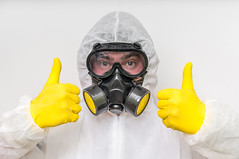New York Mold Specialist (Newyorkmoldspecialistusa) Tags: mask gas coveralls toxic man protection respirator chemical worker industrial safety eye face chemicals protective white ecology head pollution person yellow filter warfare male danger uniform dangerous background technician overall modern isolated biohazard safe radiation radioactive industry waste nuclear substances gloves warning biological counter rubber clothing chemistry thumbs up gesture czechrepublic