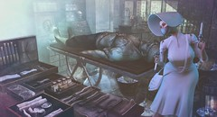 Mary Shelley (clau.dagger) Tags: drd hunt free frankenstein halloween gothic horror decor secondlife ironwoodhills gacha belleepoque thearcade dress accessories fashion style poseidon poses thesecretaffair bento