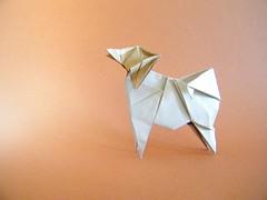 Papillon - Ouchi Koji (Rui.Roda) Tags: origami papiroflexia papierfalten chien dog cão cachorro perro papillon ouchi koji