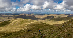 Descending from Plynlimon (DP the snapper) Tags: view mountains sunlight cpturbo panorama cp plylimon clouds