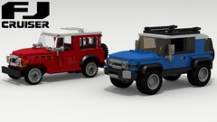 Toyota FJ's (Tom.Netherton1) Tags: toyota fj cruiser land classic vintage 2000s 2010s suv 4x4 4wd four wheel drive japanese japan offroad offroader off road roader lego legos ldd digital designer city car cars download dropbox pov povray lxf