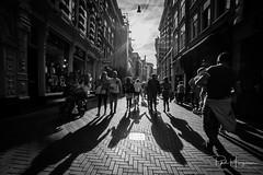 Shadows @ Klaverstraat (PaulHoo) Tags: nikon d750 ultrawideangle wideangle samyang 14mm blackandwhite monochrome 2018 sun contrast shadow light amsterdam city people candid streetphotography backlit kalverstraat street shopping