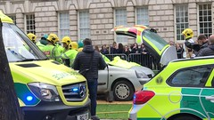 Emergency Services Road Traffic Collision Demonstration at Belfast City Hall, 16.10.2018 (John D McDonald) Tags: belfast cityhall belfastcityhall belfastcityhallgrounds donegallsquare donegallsquarenorth northernireland ni ulster geotagged iphone appleiphone iphone7plus appleiphone7plus reenactment reconstruction emergency emergencyreconstruction rta roadtrafficaccident roadtrafficcollision rtareconstruction rtcreconstruction roadtrafficaccidentreconstruction roadtrafficcollisionreconstruction emergencyservice emergencyservices emergencyservicereconstruction emergencyservicesreconstruction ambulance rapidresponsevehicle renault clio renaultclio car fireandrescueservice northernirelandfireandrescueservice firerescueservice northernirelandfirerescueservicenifirerescueservice nifrs