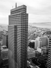 Downtown (Thomas Hawk) Tags: america california embarcaderocenter financialdistrict sanfrancisco usa unitedstates unitedstatesofamerica architecture bw