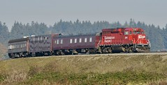 CP Track Inspection Train - East Delta BC (kenyoung3) Tags: cp2241 mow trackevaluation canadianpacificrailway gp20ceco deltabc gaugerestraintmeasurementvehicle railwayinspectiontrain train railroad canadianrailroads