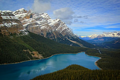 Peyto Lake, Icefield Parkway, Canada (louelke - on and off) Tags: peytolake alberta canada icefieldsparkway mountains lake snow water greenturquoise banff national park
