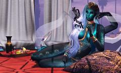Quiet Evening (LiangScorpio) Tags: fallengodsinc fantasy sl secondlife aii goddess scarab maitreya fallen fallenlibertine