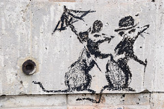 Banksy (HBA_JIJO) Tags: streetart urban graffiti paris animal art france hbajijo wall mur painting peinture mouse urbain banksy rat