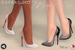 Maria Pumps (Ashleey Andrew) Tags: garbaggio sl secondlife virtual world fashion apparel accessories footwear shoes original mesh shoe lace stones sheer fameshed