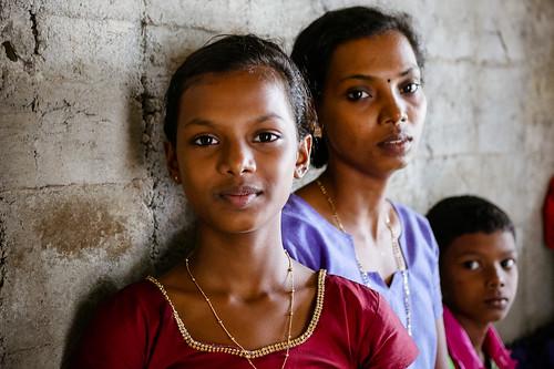 Ritratto di famiglia. Kerala, India, 2018