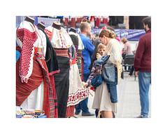 Dress (exhibition of Ukrainian folk art) (Alexandr Voievodin) Tags: dress exhibition clothes ukrainianfolkart girl motherandson olympusomdem10markii