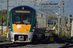 22015 departs Connolly, 18/9/18 (hurricanemk1c) Tags: railways railway train trains irish rail irishrail iarnród éireann iarnródéireann 2018 22000 rotem icr rok 4pce 22015 1732grandcanaldocknewbridge dublin connolly