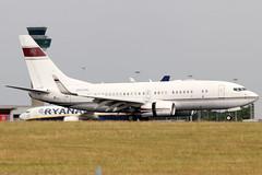 N666ML (GH@BHD) Tags: n666ml boeing 737 737700 b737 bbj boeingbusinessjet hkbellawingsjet stn egss stansted londonstanstedairport stanstedairport aviation aircraft airliner bizjet corporate executive