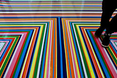 Zobop II (Rosetta Bonatti (RosLol)) Tags: roslol rosettabonatti tate zobop art floor colorful rainbow feet lines stripes liverpool gallery uk england jimlambie geometric