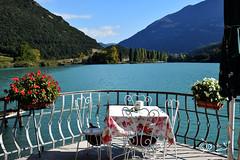 Ti aspetto...!!! (Biagio ( Ricordi )) Tags: lago lake toblino trentino italy fiori flower love amore acqua cielo terrazza montagna