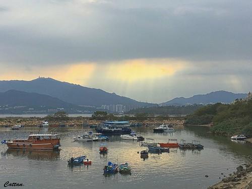 Floating fishing village, Sam Mun Tsai, 三门仔,香港