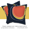 'Classic comeback, new + bold, on navy by Su_G': cushions mockup (Su_G) Tags: spoonflower roostery sug 2018 cushion cushions flangedcushions pillow pillows flangedpillows homedec homedecor homedecorating fabric wallpaper big bold bright navy yellow orange white navyyelloworangewhite chalk chalktexture handpainted interiordecorating technicalissues
