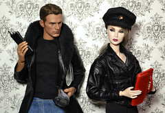 Undercover work: unreliable source (Nadine Gomes) Tags: integrity toys fashion royalty smoke mirrors lilith blair nu face w club exclusive doll toy 16 marvel avengers captain america steve rogers action figure chris evans