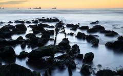 The end of liberty   (Explored) (PeskyMesky) Tags: aberdeen aberdeenbeach longexposure sunrise sunset water sea ocean rocks canon canon6d eos scotland landscape