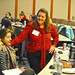 Ferndale City Manager April Lynch Talks with Students at Women Leading Local Government Event at University of Michigan October 19, 2018