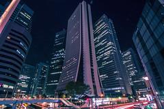 Shinjuku - Tokyo, Japan (inefekt69) Tags: japan tokyo shinjuku nishishinjuku nikon d5500 日本 東京 新宿 西新宿 night neon street people sign road buildings skyscraper