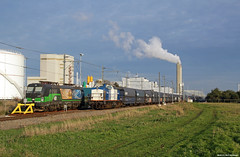 20181031 LTE 193 232 & VR 203-2 + leko, Amsterdam Houtrakpolder (Bert Hollander) Tags: amsterdam houtrakpolder hrp lte loc 193232 eloc vectron locomotief br193 volkerrail 2032 br203 v100 kolen falns wagens blauw vtg zon cargo goederentrein rangeren lten vr trein 47708emhrp