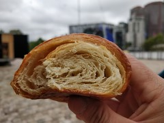 Flaky insides of a vegan croissant - Weirdoughs Vegan Bakery, Melbourne (avlxyz) Tags: vegan vegetarian patisserie cafe