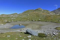 gouille asséchée (bulbocode909) Tags: valais suisse nendaz gouilles montagnes nature eau rochers paysages vert bleu lacdugranddésert