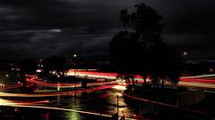 Light To Moderate Rain (VGPhotoz) Tags: vgphotoz lighttrails dailycommute arizona phoenix city turns lines usa traffic storm concordians night nightlights marculescueugendreamoflightportal atnight crazyturns traffichour