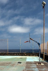 Abandoned / Abandonado (López Pablo) Tags: lacaleta elhierror canary islands spain blue green basketball fence sky cloud nikon d7200