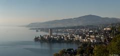 Montreux Riviera Panorama (lmorisod) Tags: switzerland suisse soleil lac lake léman lacléman montreux montagne vevey vignes mont pellerin eau bleu nikon nikond750 paysages panorama ciel