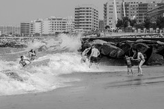 Fear, Love and Loathing (Adam Bonn) Tags: leica leicam9 leicam monochrome blackandwhite blackwhite 7artisans 7artisans50mmf11 sea beach beachlife seaside waves 50mm street streetphotography