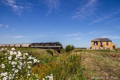 IBCX 815 @ La Crosse, IN (Michael Polk) Tags: indiana boxcar company emd sdm 815 ckin chesapeake ohio qn cabin wade tower interlocking monon la crosse freight train