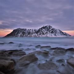 Skagsanden on the rocks (Rudi Verspoor) Tags: beach sea seascape seaside norway clouds sky winter february lofoten