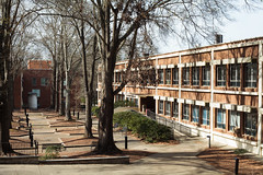 UGA - campus misc 21 (Doctor Casino) Tags: geographyandgeologybuilding 1960 geography geology architecture modernist brick bldgtext landscapearchitecture garden plaza uga universityofgeorgia athens ga campus southcampus sciencecampus