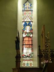 Church - St Andrews Catholic, Braemar 180711 [Stained Glass Window 3a] (maljoe) Tags: church churches braemar stainedglasswindow stainedglass stainedglasswindows