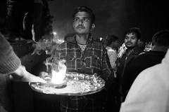 Street shot, Varanasi India (mafate69) Tags: asia asie asiedusud southasia subcontinent souscontinent street streetshot streetlevelphoto portrait photojournalisme photoreportage photojournalism india inde up uttarpradesh varanasi bw blackandwhyte benares benaras kashi puja ganga aarti light fire feu lumière nuit night nb noiretblanc mafate69 rue reportage documentaire documentary city candid