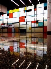 """Москва, станция метро """"Румянцево"""" / Moscow, metro station """"Rumyantsevo"""" (msergeevna) Tags: metro moscow russia color prestigio underground"""