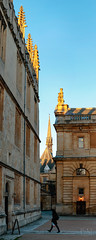 Exeter College Chapel from the Bodleian Library Clarendon Quad (BobMah) Tags: oxford bodleian building goldenhour exetercollege city architecture vertorama spire chapel