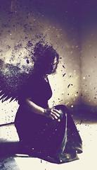 Fallen (Kylurn) Tags: angel fallen grace dress dust disintegrate dying death disappearing blackdress angelwings wings dark light purchase