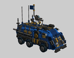 o4 Transport Vehicle Super APC (demitriusgaouette9991) Tags: lego military army ldd armored powerful deadly apc future flag transport turret
