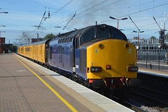 """Direct Rail Services Blue Liveried Class 37/6, 37607 (37190 """"Dalzell"""") Tags: drs directrailservices unbrandedblue hnrc harryneedlerailroadcompany europhoenix nr networkrail yellow testtrain ee englishelectric type3 growler tractor class37 class376 37607 37511 37103 d6803 derby"""