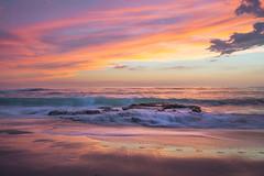 Surprise (David Colombo Photography) Tags: surprise sunset windansea beach rock waves color vibrant clouds sea ocean pacific sandiego california davidcolombo d800 davidcolombophotography nikon seascape landscape sand reflection