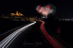 El final de la Festa Major (Yaco1959) Tags: lleida focs fuegosartificiales nocturna largaexposicion