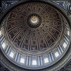 St Peter Basilica (MiguelVP) Tags: 6x6 film basilica dome michaelangelo vatican italy