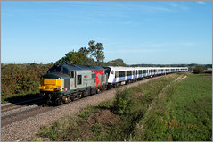 Late Running Pegasus (Resilient741) Tags: class 37 37611 pegasus rog rail operations group ee english electric crossrail elizabeth line unit emu multiple 345026 rotherby leicestershire train diesel loco locomotive railway