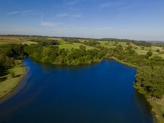 Knipton Reservoir (chrisnadollek) Tags: reservoir woodland water dji phantom
