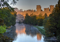 Warwick Castle (Malcolm Bull) Tags: include warwick river mist castle 20180925mist000123tonemappededited1web