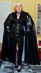 Birgit027467 (Birgit Bach) Tags: dress kleid buttonthrough durchgeknöpft cape pvc shiny glänzend